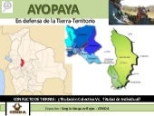 Ayopaya en defensa de la tierra