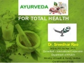 Ayurveda for total health   dr. sre...