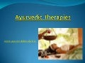 Ayurvedic therapies