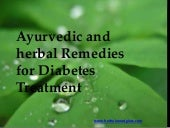 Ayurvedic treatments for diabetes