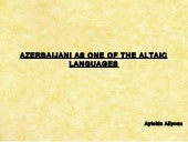 Azerbaijani as one of the altaic la...