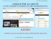 Azero: approccio all'alfabeto nelle procedure mediche