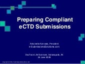 Preparing Compliant eCTD Submissions