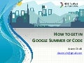 How to get in Google Summer of Code (For Algerian Students)