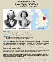Robert Shipley and Harriet Wright