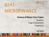 B241 - Microfinance Issues and Brea...