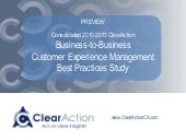 B2B Customer Experience Management Best Practice Study