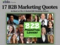 17 Insightful Quotes From B2B Marketing Leaders