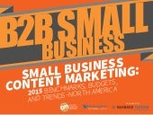 B2B Small Business Content Marketing: 2015 Benchmarks, Budgets and Trends - North America
