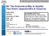 B3: The Economical way to Amplify Y...