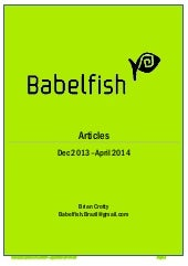 Babelfish: Articles Dec 2013 to Apr...