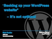 Backing up your WordPress website – it's not optional