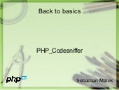 Back to basics - PHP_Codesniffer
