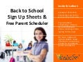 Back to School & Classroom Sign Up Forms - Fast, Easy and FREE!