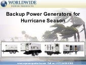 Backup Power Generators for Hurrica...