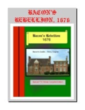 Bacons Rebellion   1676 American Co...