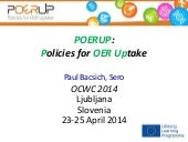 POERUP – Policies for OER Uptake