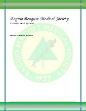 Baguio Benguet Medical Society by-laws
