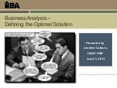 Business Analysis- Defining the Opt...
