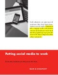 Bain Brief:  Putting social media to work