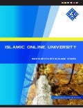 Islamic Online University, BA Islamic Studies brochure