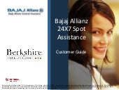 Bajaj allianz 24 x7 spot assistance...