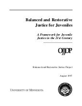 Balanced and restorative justice fo...