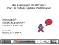 OLPC Project: Plan, Update, Direction, Participation