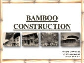 Bamboo construction (final ppt)