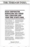 Bangalore Patrol coverage, April - May, 2010
