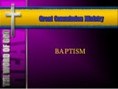 Baptism In Jesus Name