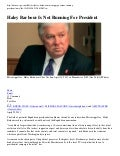 MISSISSIPPI GOVERNOR HALEY BARBOUR - Will Not Run For 2012 United States President
