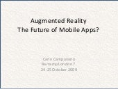 Augmented Reality (AR) - The Future...