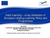 Adult Learning – a key dimension of...