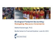 Ecological Footprint Accounting: Na...