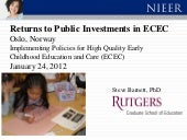 Returns to Public Investments in EC...