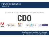 Baromètre des chief digital data officers #bcd20 edition 2015