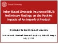 Index-Based Livestock Insurance (IBLI): Preliminary findings on the positive impacts of an imperfect product