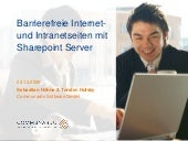 Barrierefreie Internet und Intranet...