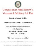 Congressman John Barrow's Job Fair - August 16, 2014 - Statesboro