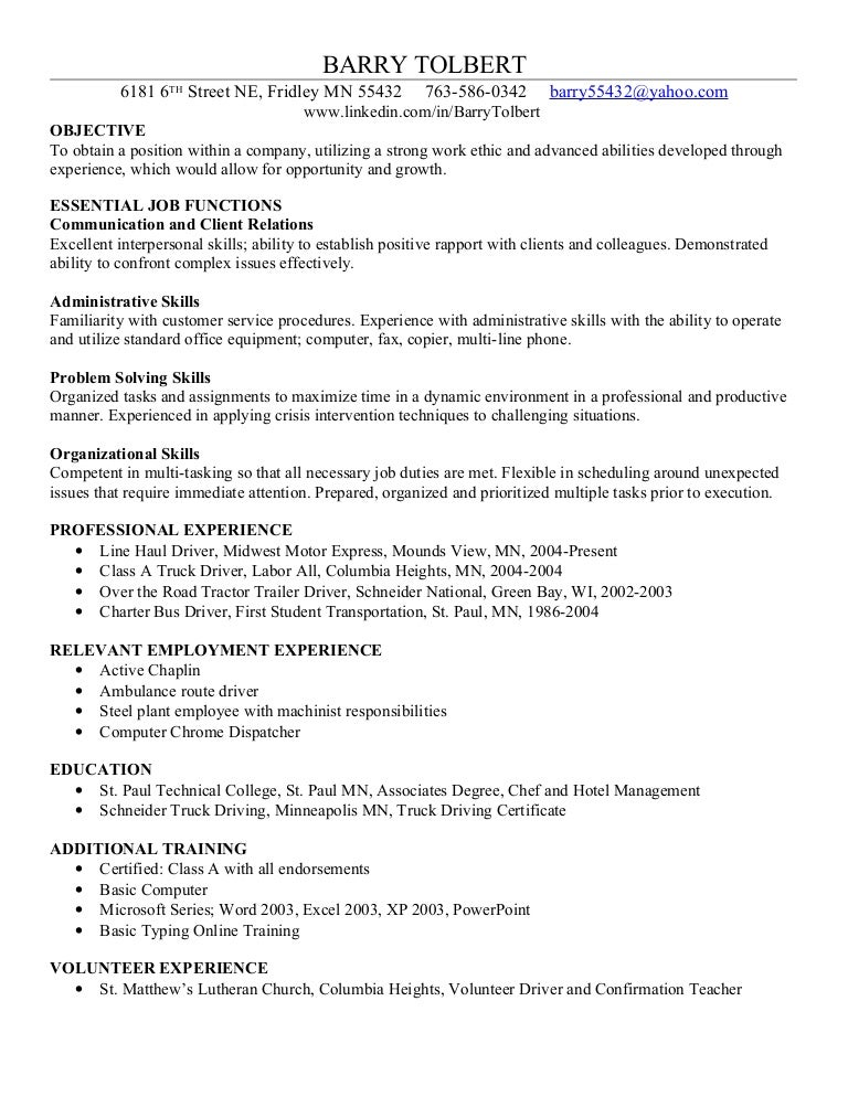 Excel Skills For Resume