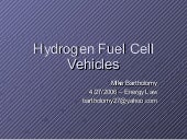 Bartholomy hydrogen fuelcell vehicles