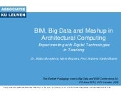 BIM, Big Data and Mashup in Archite...