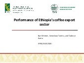 Performance of Ethiopia's coffee export sector