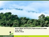Tenure Rights and Property Rights: Studies at CIFOR