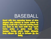 Baseball Visual Information 2º ESO ...