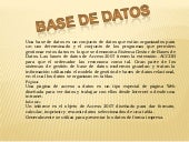 Base de datos acces