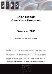 Base Metals One Year Forecast   Nov...