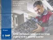 BASF 2 Q2015 charts conference call for investors and analysts