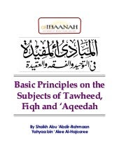 Basic principles in tawheed.doc